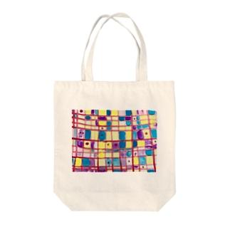 ヒキダシ Tote bags