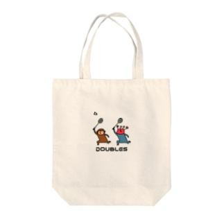 バドミントン サルカニダブルス Tote bags