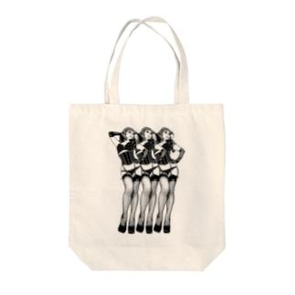 トリプル・ウノ(黒) Tote bags