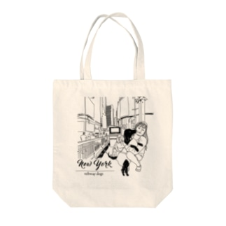 YKKとクロエ in ニューヨーク(白黒) Tote bags