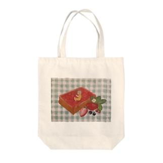 ジャムトースト Tote bags