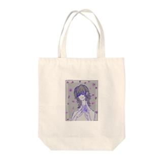 my flower Tote bags