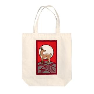 シロクマ商店の迷子のシカ Tote bags