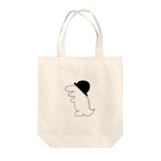 帽子ワニ(黒) Tote bags