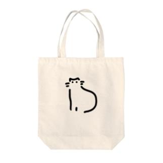 ミニまるキャット Tote bags