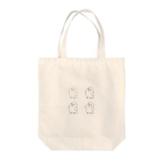 ゆるインコカルテット Tote bags
