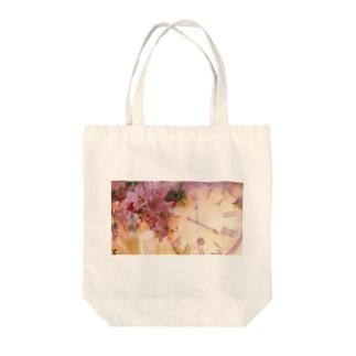 時間旅行:春 Tote bags