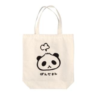 ぱんだまん Tote bags