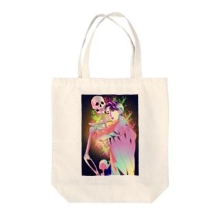 髑髏と美青年グッズ Tote bags