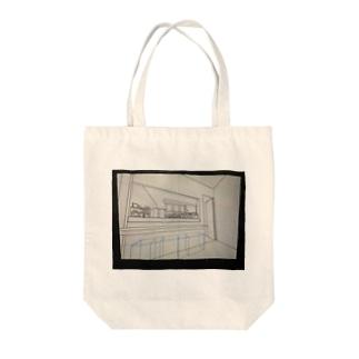 カフェキッチンパース Tote bags