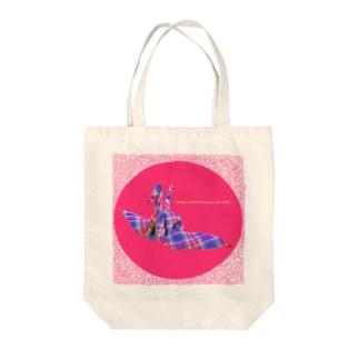 「布」で「おり紙」をおったよcrane Tote bags