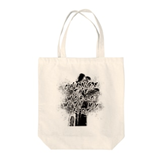 change the world with my fist Tote bags
