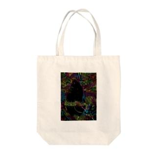 虹色セイウチ Tote bags