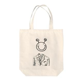 先祖スマイルさん(無) Tote bags