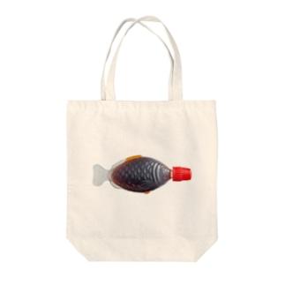 サカナ醤油(実写版) ー両面プリント Tote bags