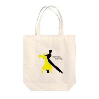 社交ダンス×シルエット Tote bags