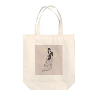 シンツァイの3 sisters Tote bags