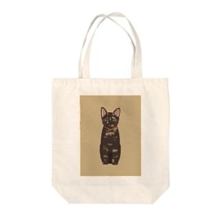 サビ猫のまぜこ すねている Tote bags