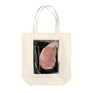 国産霜降りWAGYU Tote bags