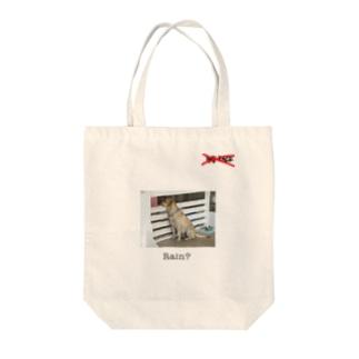 RAF FACEのRain dog  Tote bags
