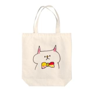 蝶ネクタイねこ Tote bags