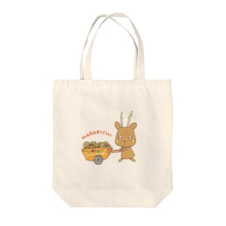 ならきち 鹿せんべいを運ぶ Tote bags