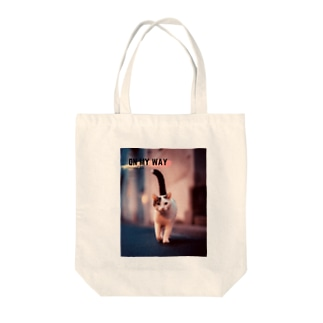 ON MY WAY cat Tote bags
