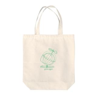 globe again Tote bags