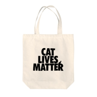 CAT LIVES MATTER Tote bags