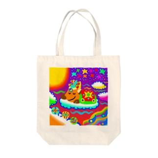 ふんわりしか・夜 Tote bags
