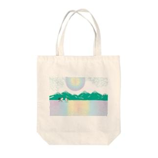 酉年のニワトリのイラストgoods Tote bags