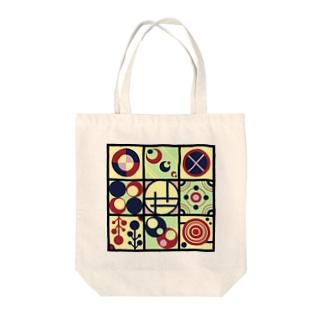 レトロな丸【模様シリーズ】 Tote bags