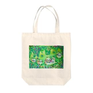 Flower garden Tote bags