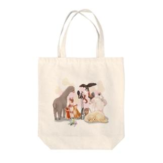麦穂動物園 ロゴ無し Tote bags