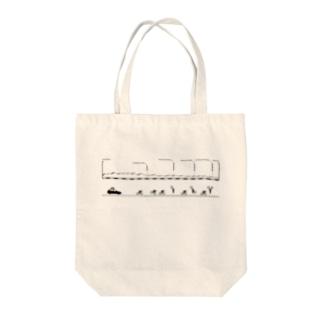 北の地獄トート(印刷色:くろ) Tote bags
