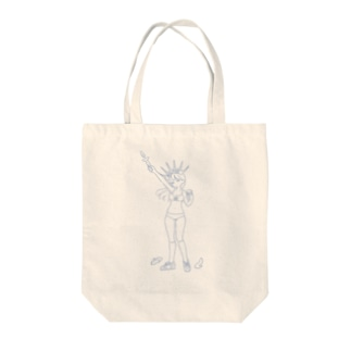 Feminism Enlightening the World Blue Line Tote bags