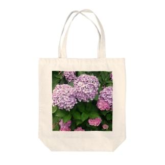 ひかわまことの紫陽花 Tote bags