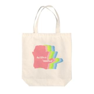 子むさグラデーション Tote bags