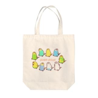 《MONSAN》セキセイズ Tote bags
