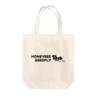みつばち&つりあぶ 英字ロゴトートバッグ Tote bags