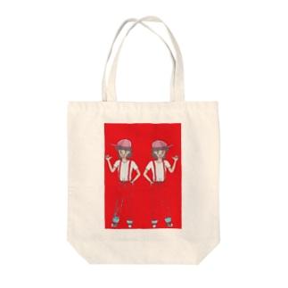 双子姉妹 Tote bags