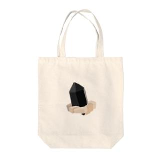 """モリオン(黒水晶) """"グラフィックVer."""" Tote Bag"""