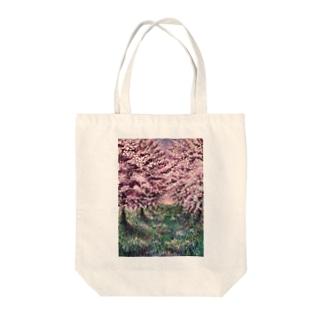 りんごの並木道 Tote bags