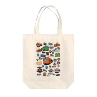 乗り物イラストレーター井上広大 オンラインショップのTRAINS Tote Bag