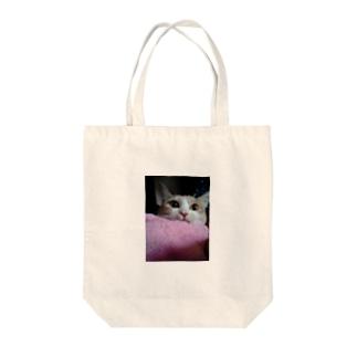 うちのネコ Tote bags