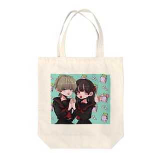 ♀×♀  Tote bags
