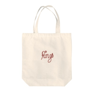 ring-o text Tote bags