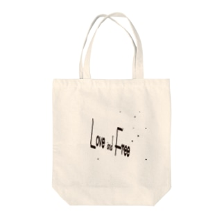love & free(星に願いを) Tote bags