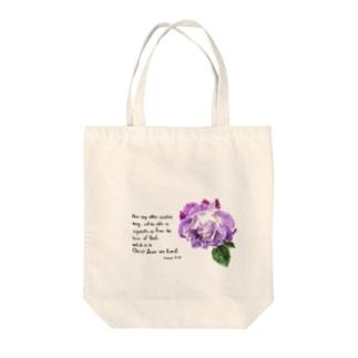 紫のバラ Tote bags