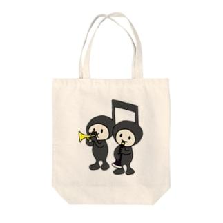 仲良しおんぷちゃん Tote bags